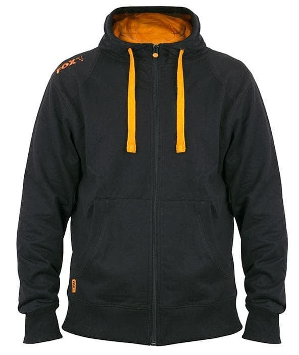 Fox Black Orange LW zipped hoodie Суитчър