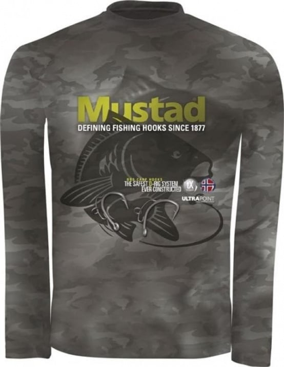 Mustad Day Perfect BBS Camo Тениска/Блуза с UV защита 30 фактор