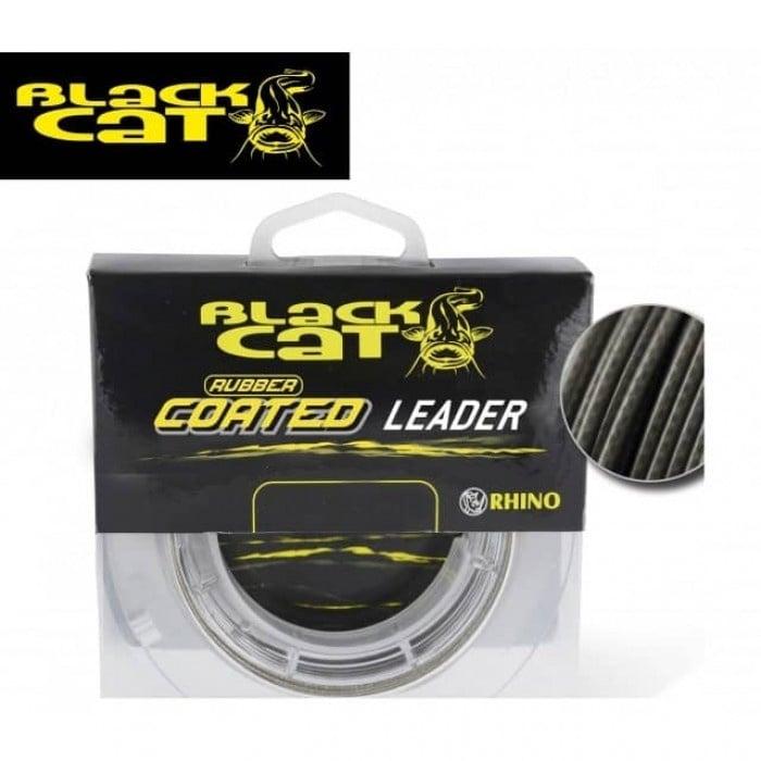 Black Cat Rubber Coated Leader 20м Плетено влакно за поводи