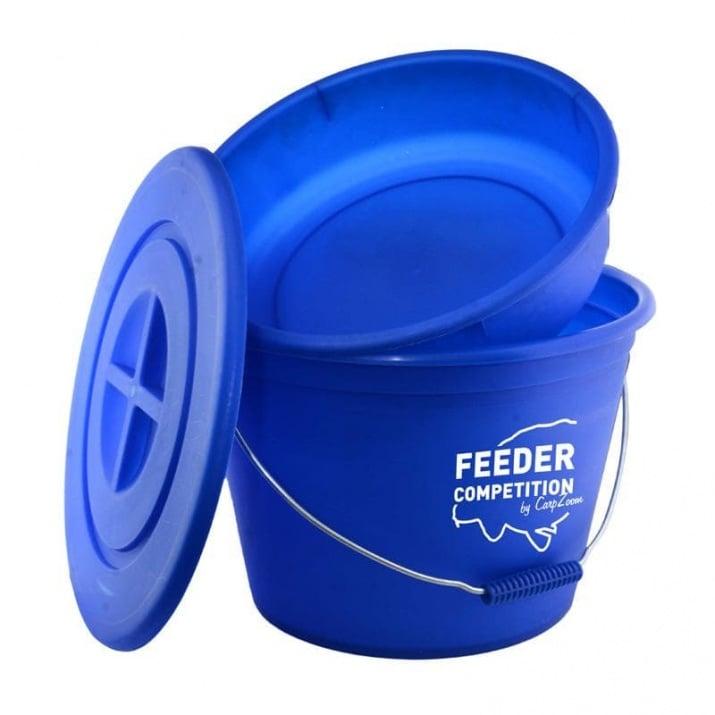 Carp Zoom Feeder Competition Bait Bucket Кофа за захранка с леген