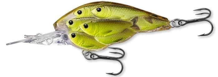 LiveTarget Baitball Yearling 60mm Воблер Chartreuse/Black