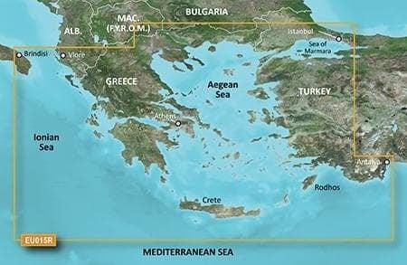 Garmin BlueChart g2 Карти за Егейско и Мраморно море