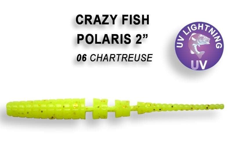Crazy Fish POLARIS 5.5см Силиконова примамка 06 Chartreuse