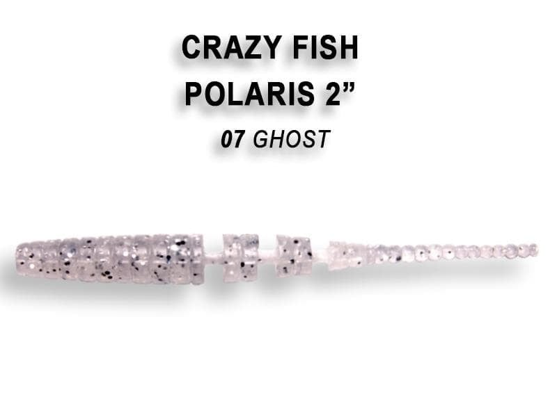 Crazy Fish POLARIS 5.5см Силиконова примамка 07 Ghost
