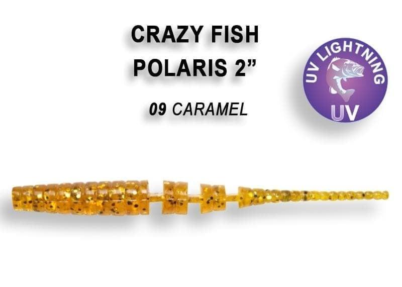 Crazy Fish POLARIS 5.5см Силиконова примамка 09 Caramel