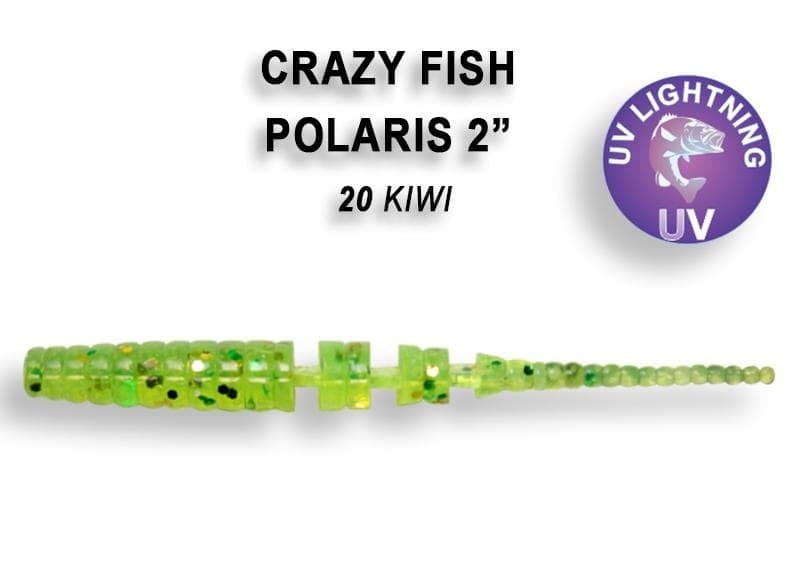 Crazy Fish POLARIS 5.5см Силиконова примамка 20 Kiwi