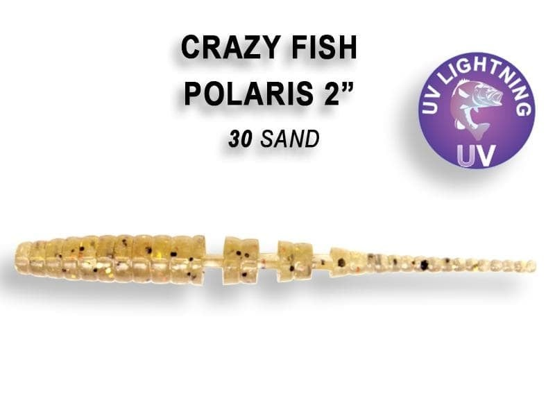 Crazy Fish POLARIS 5.5см Силиконова примамка 30 Sand