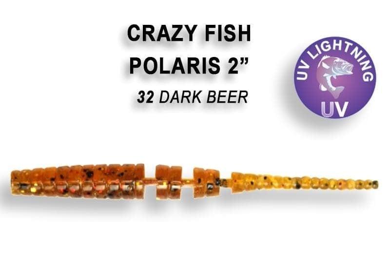 Crazy Fish POLARIS 5.5см Силиконова примамка 32 Dark Beer