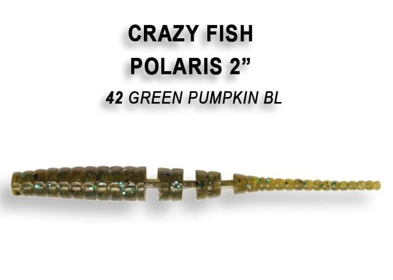 Crazy Fish POLARIS 5.5см Силиконова примамка 42 Green Pumpkin BL