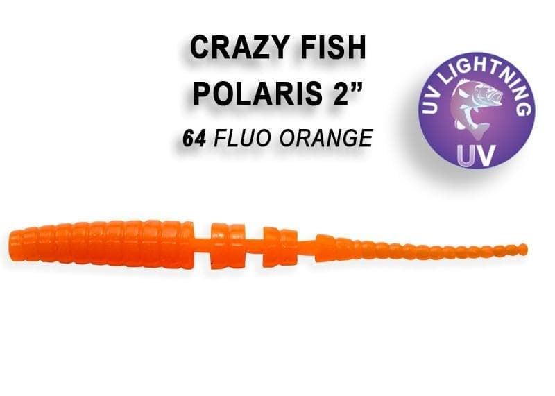 Crazy Fish POLARIS 5.5см Силиконова примамка 64 Fluo Orange