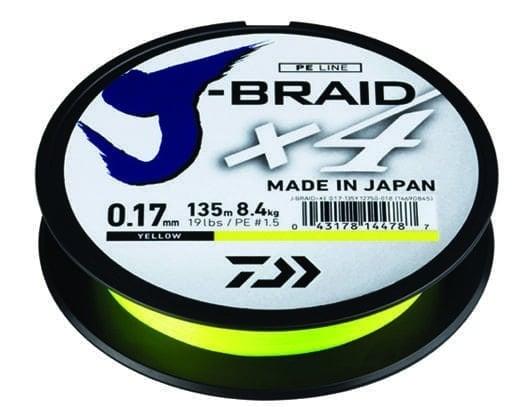 Daiwa J-Braid X4 YE Плетено влакно JBX4YE135-015
