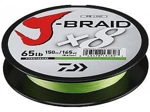 Daiwa J-Braid X8 Chartreuse Плетено влакно JBRAIDCHRT150-0.06