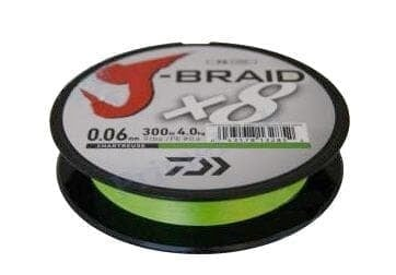 Daiwa J-Braid X8 Chartreuse Плетено влакно JBRAIDCHRT300-0.06