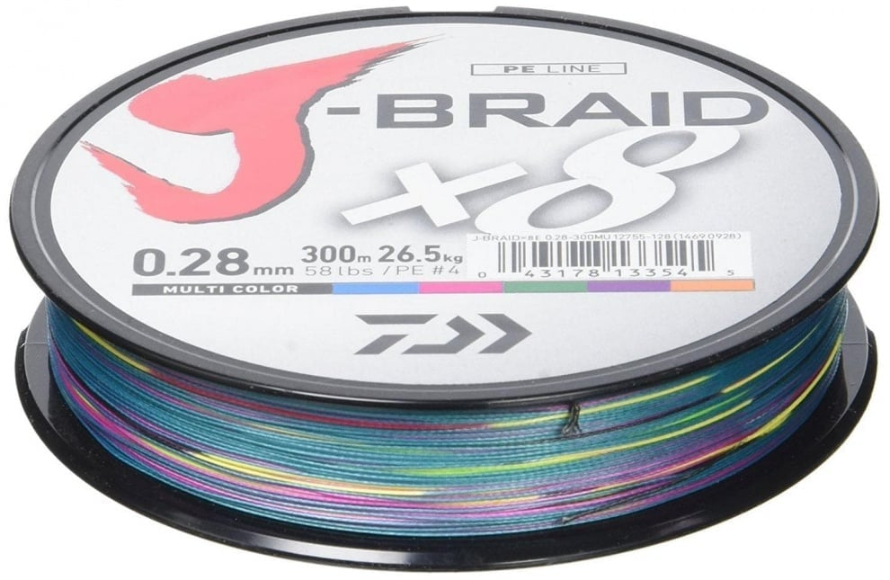 Daiwa J-Braid X8 Multi Плетено влакно JBRAID300-0.18