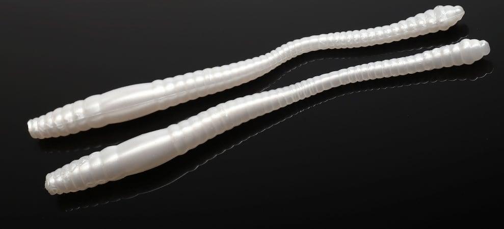 Libra Lures DYING WORM 70 Силиконова примамка червей 004 Silver Pearle (вкус Рак)