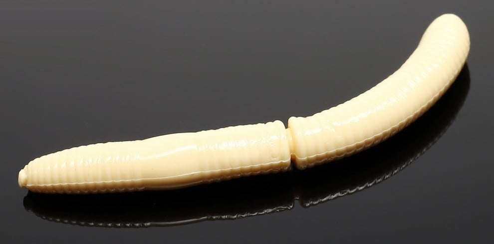 Libra Lures FATTY D'WORM 65 Силиконова примамка червей 005 Cheese (вкус Рак)