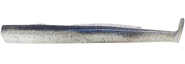 Fiiish Black Eel №3 15cm Комплект силикони Cloudy White - UV Electric Blue