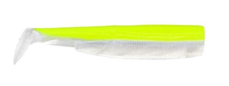 Fiiish Black Minnow №2, 9cm Силиконова примамка Fluo Yellow/White