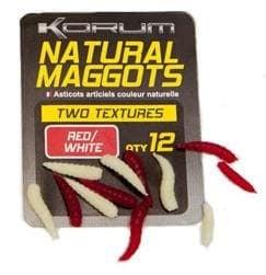 Korum Natural Maggots Силиконова примамка Red/White