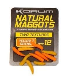 Korum Natural Maggots Силиконова примамка Yellow/Orange