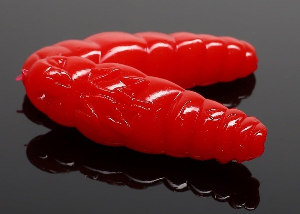Libra Lures LARGO 30 Силиконова примамка ларва 021 Red (вкус Сир.)