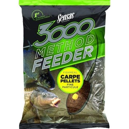 SENSAS 3000 Method fishmeal Carp Pellets 1kg Захранка