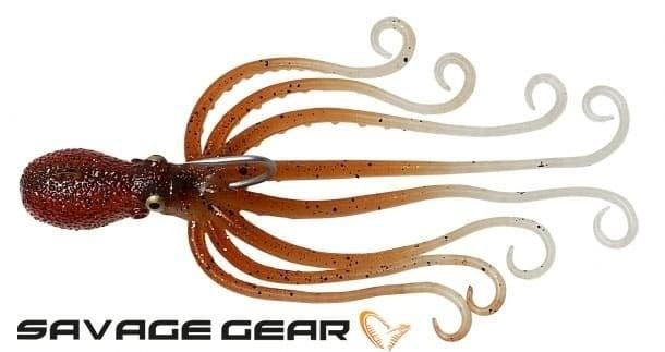 Savage Gear 3D Octopus 300 гр. Силиконова примамка октопод Brown Glow