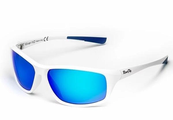 River HD Fly - Lente Specchiata Blu / Bianco Очила