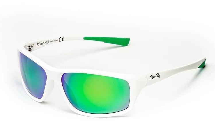 River HD Fly - Lente Specchiata Verde / Bianco Очила