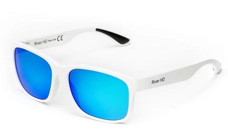 River HD One - Lente Specchiata Blu / Bianco Очила