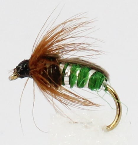 Dragon Мухи английски нимфи Wtd Green Sedge Pupae