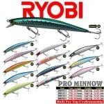 RYOBI Pro Minnow SM1251F Воблери видове